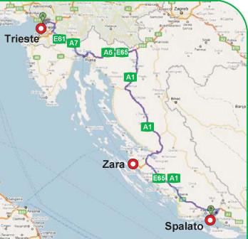Cartina Croazia