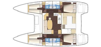 Catamarano 4 posti
