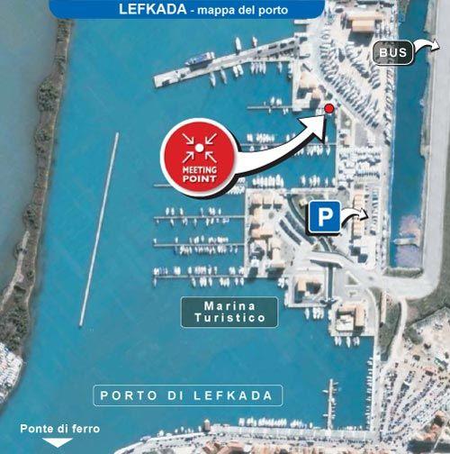 Mappa porto Lefkada