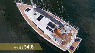 Barca a vela Hanse 34.8 dall'alto