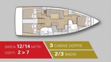 Schema Interno Barca a Vela 14 Metri