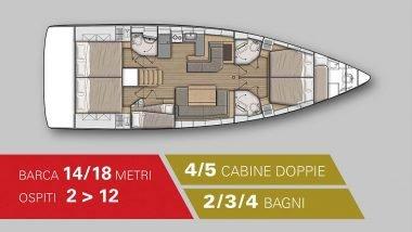 Schema interni Barca a Vela 18 Metri
