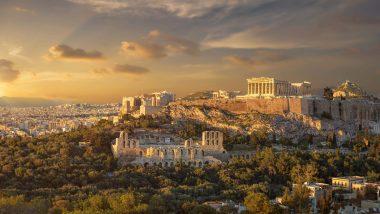 Vista del Partenone Atene