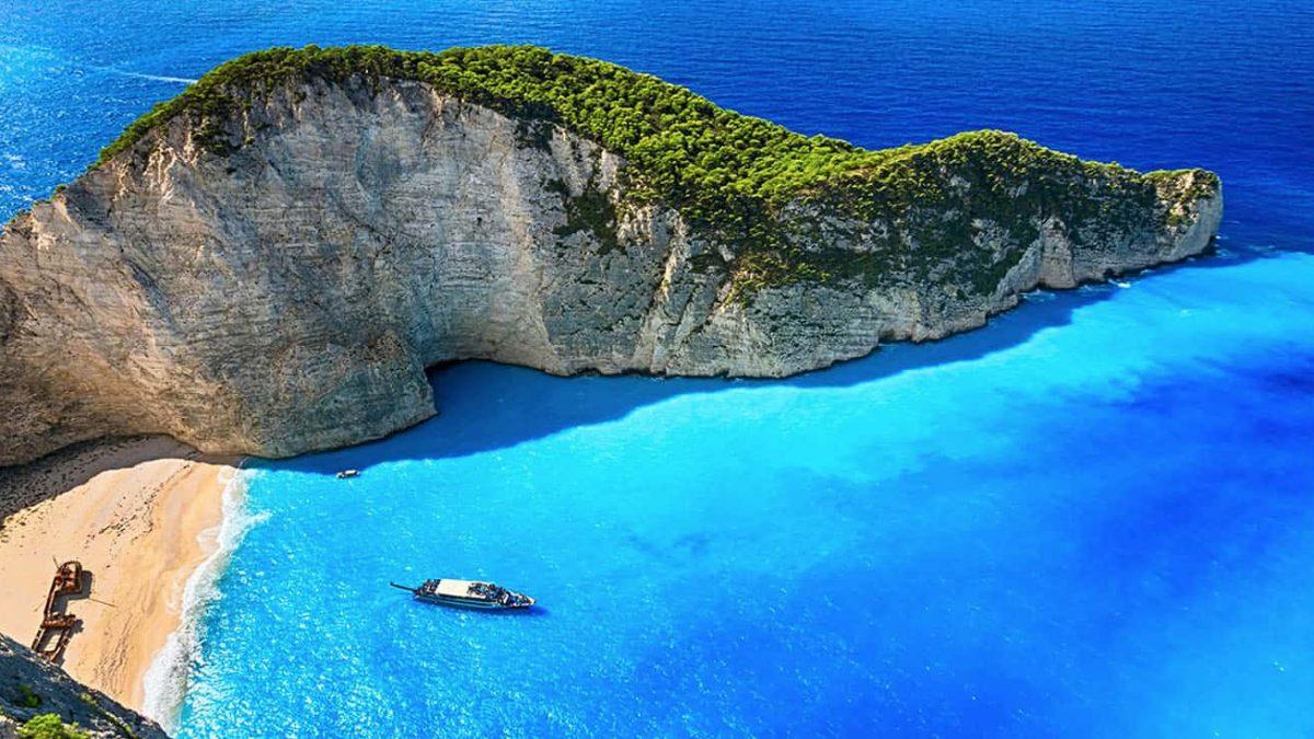Vista delle Isole Ioniche della Grecia