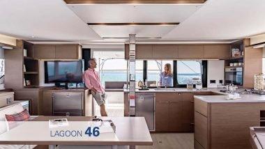 Cucina e Interni Catamarano Lagoon 46