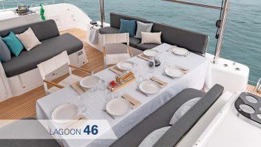 Salotto esterno Catamarano Lagoon 46
