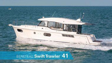 Vista dall'esterno della Benetau Swift Trawler 41