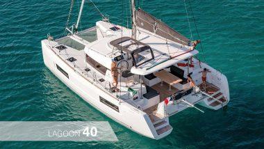 Vista esteran Catamarano Lagoon 40